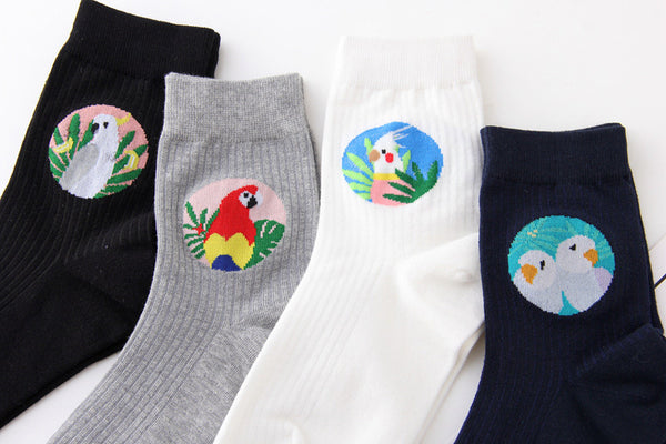 Tropical Bird Socks