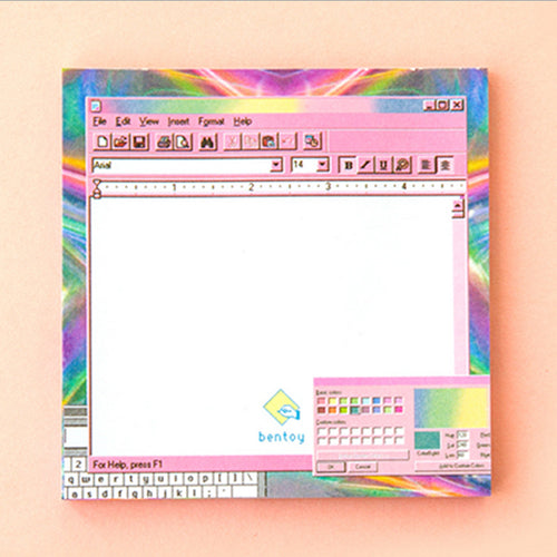 Computer Sticky Note Pad