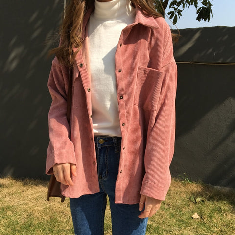 Long Sleeve Corduroy Shirt