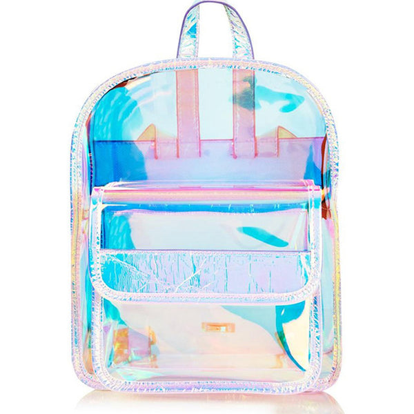 Holographic Transparent School Bag