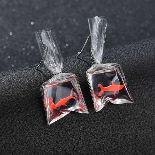 Fish Bag Earrings