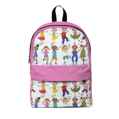 "Roxanna Baer- ""Kids Dancing"" Classic Backpack- Rose"