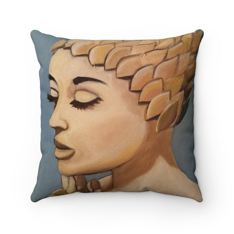 """Bathing Cap"" Square Pillow"