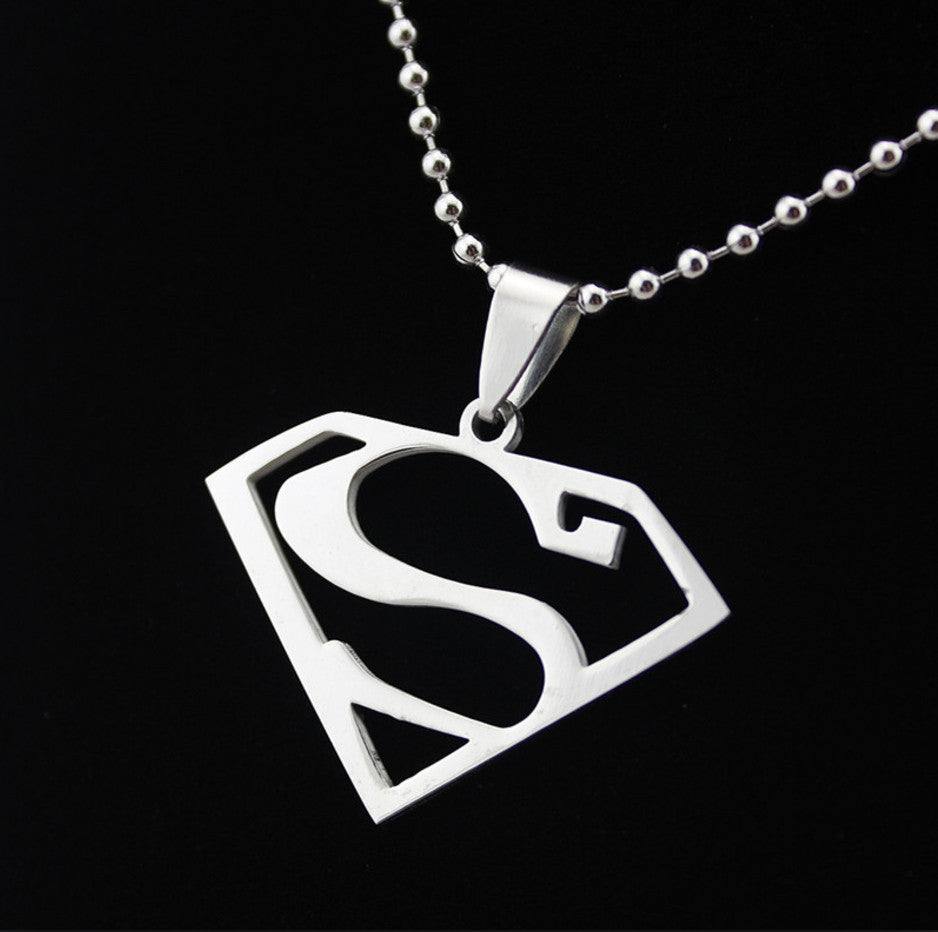 Necklaces - Superman Logo Charm & Necklace