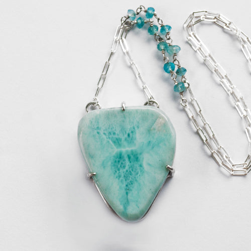 Larimar Slab Necklace
