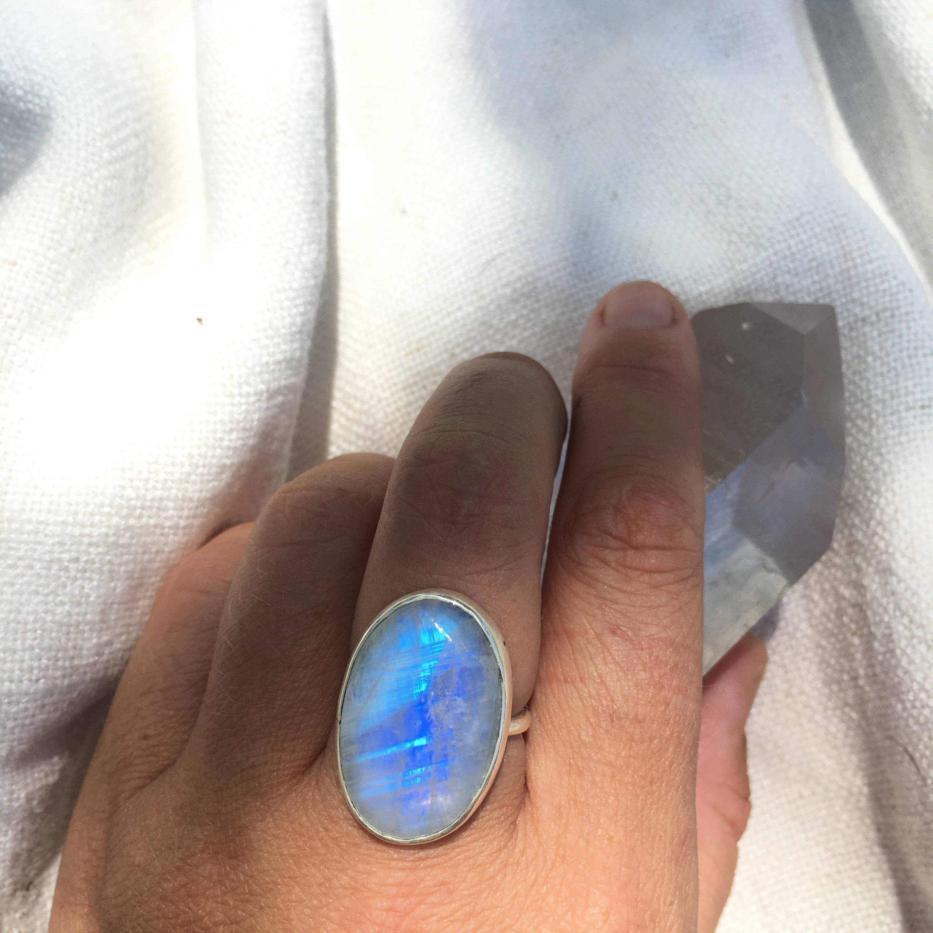 *made to order* LIGHT RING: Moonstone