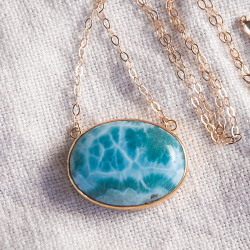 ALCHEMY NECKLACE: Larimar