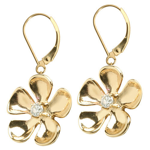 Honu Flower Dangle Earrings