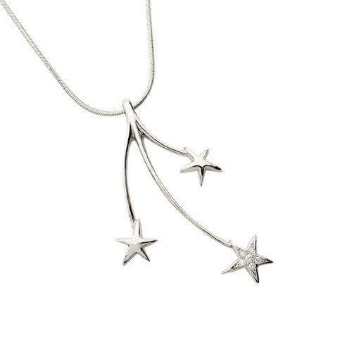 Shooting Stars Pendant with Diamond Pave
