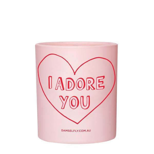 I adore you - Damselfly Frankie Large Candle