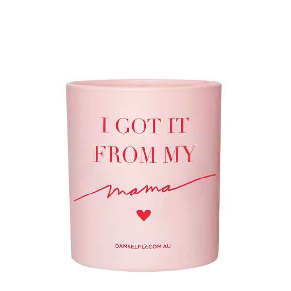 I got it from my mama - Damselfly Frankie Large Candle