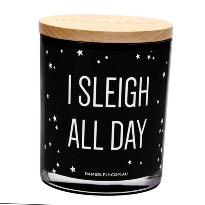 I Sleigh All Day - XLarge Christmas Candle