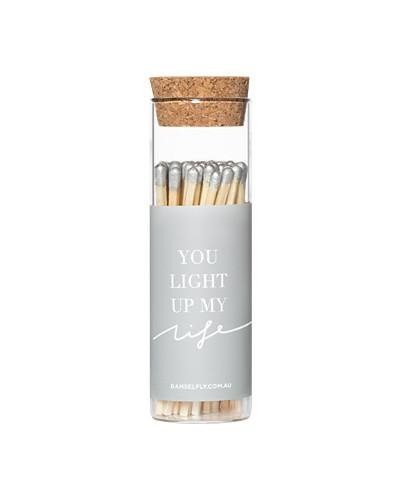 You Light Up My Life- Glass Vial Matches