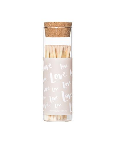 Love- Glass Vial Matches