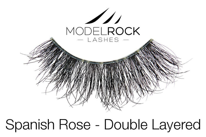 Model Rock Double Layered Lashes - Spanish Rose