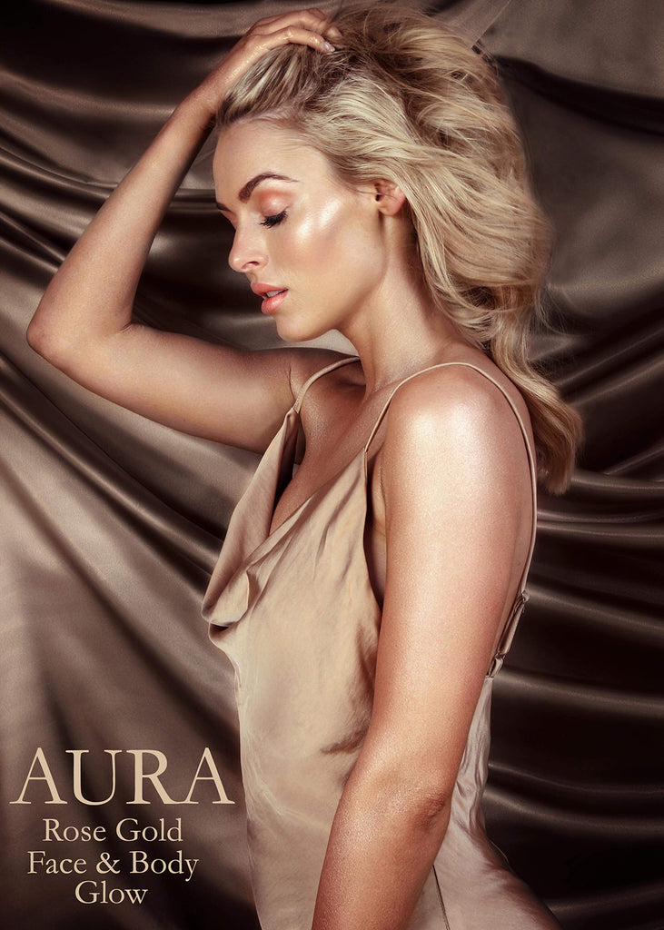 Harlotte Aura Rose Gold Face & Body Glow