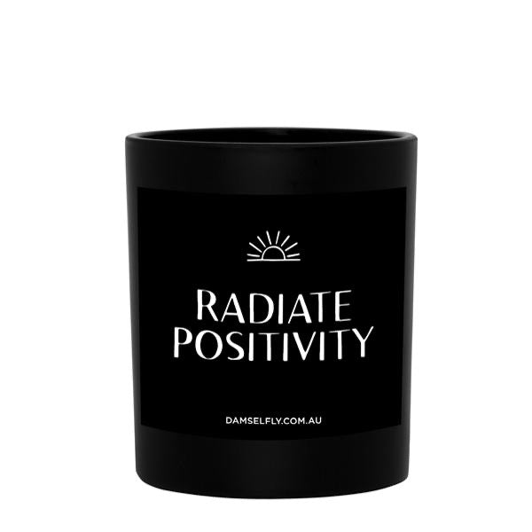 RADIATE POSITIVITY - Damselfly Large Candle