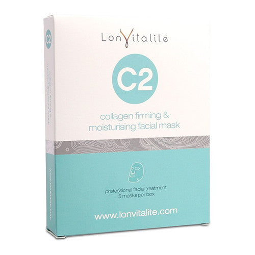 LONVITALITE C2 COLLAGEN FIRMING & MOISTURISING SHEET MASKS - 5 PACK