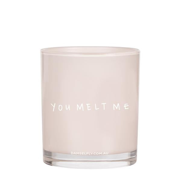 You Melt Me -Damselfly Large Candle