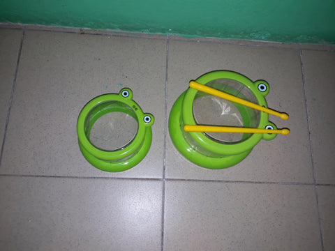 2 Part Green Drum Set