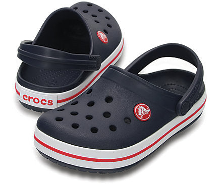 Navy blue baby crocs