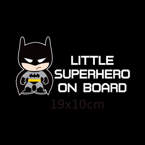 Little Superheroes Baby On Board Reflective Car Sticker