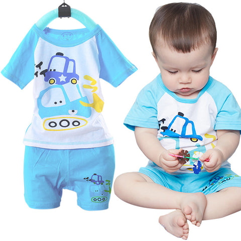 Cotton Cartoon Kids Clothing Set