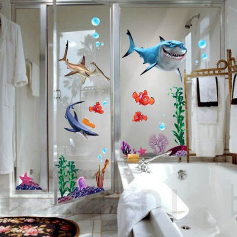 Seabed Wall Sticker Shark Fish