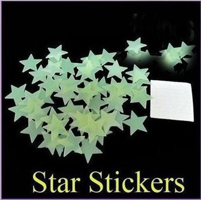 Glow In The Dark Stickers (100 pieces)