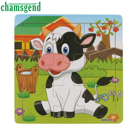 Wooden Dairy Cow Jigsaw Toy For Kids Education And Learning Puzzles