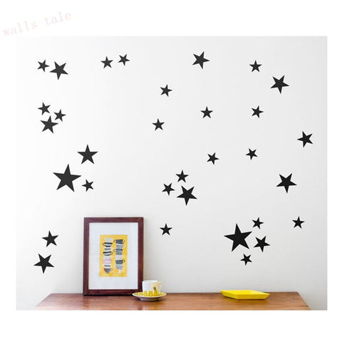 Stars Pattern Vinyl Wall Art Decals