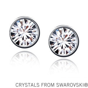 Stud Earrings for women crystals from Swarovski. Free Shipping