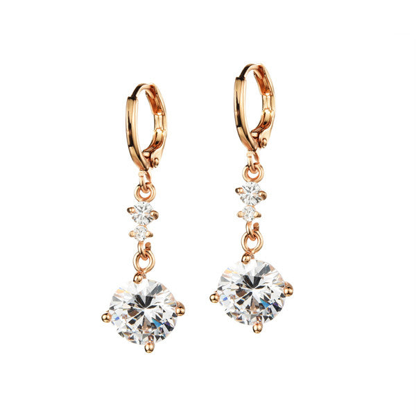 crystal from Swarovski Cubic Zirconia Stud Earrings. Free Shipping