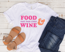 Food, Wine, & Fast Pass Lines Tee