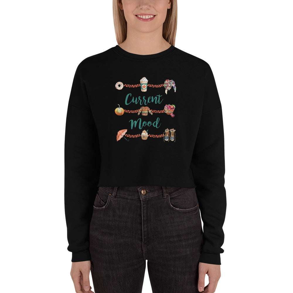 Autumn Mood Women's Crop Sweatshirt