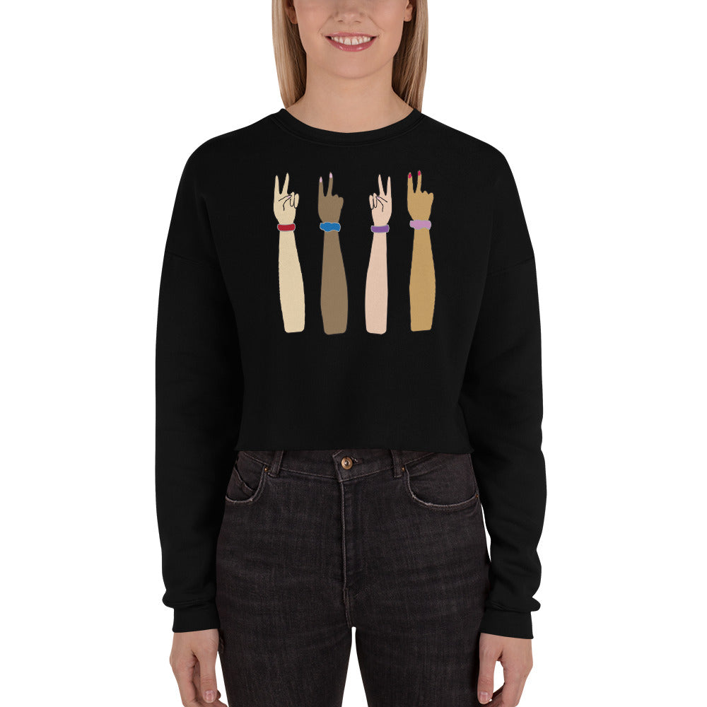 (Magic) Bandz Women's Crop Sweatshirt