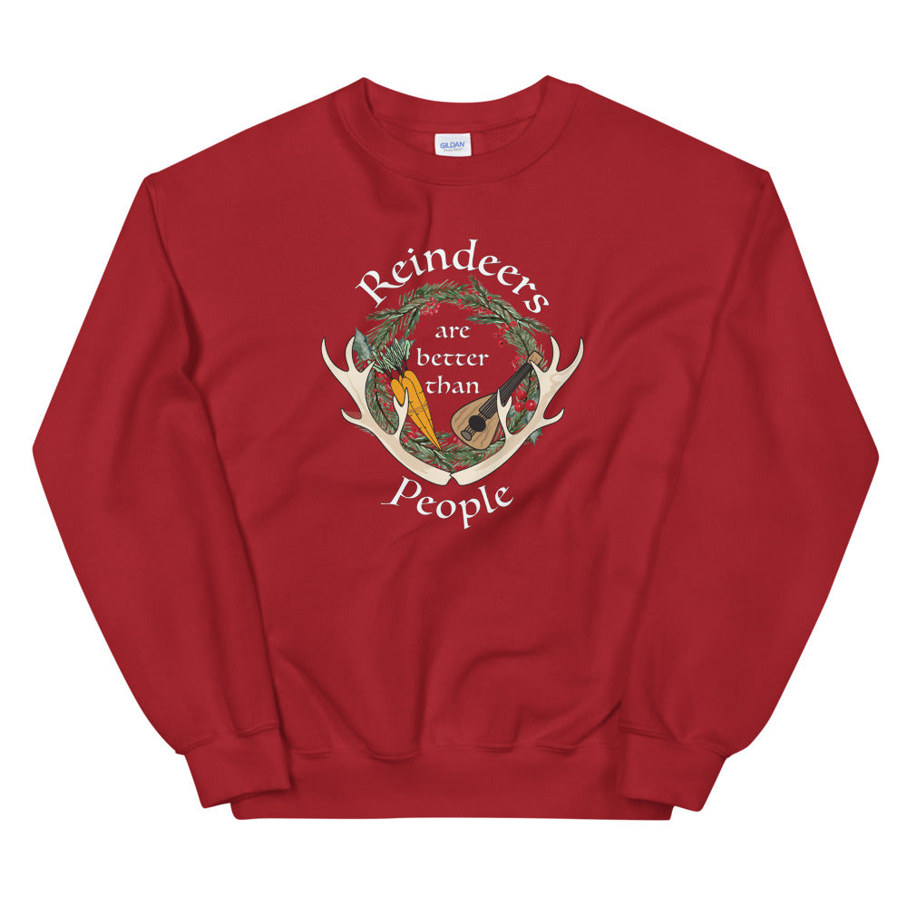 Reindeers>People Sweatshirt