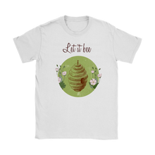 Let it Bee Vintage Designed Womens T-Shirts