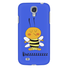 Buzzzz Meditation Save the Bee Phone Cases blue