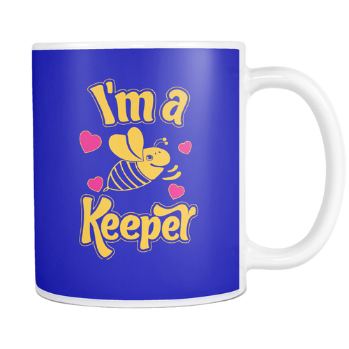 I'm a Keeper! Bee Mugs