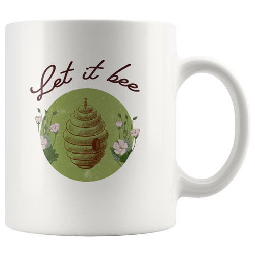 Let it Bee Save the Bees Mugs