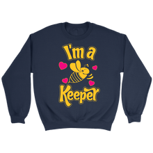 I'm a Keeper! Save the Bee Crewneck Sweatshirt Mens Apparel