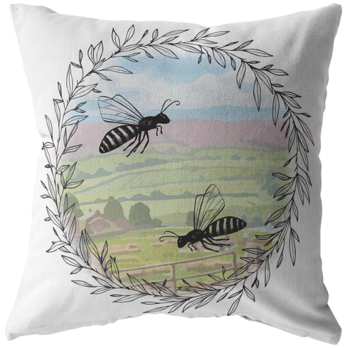 Vintage Bee Pillow designs