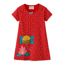 Bee red and spot Girls Dress