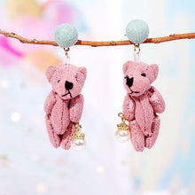 Cute Animal Bee Drop Earrings For Women Girls Kids