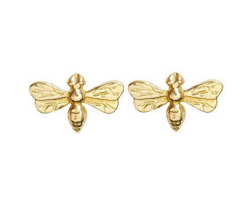 Fashion Solid Gold Bee Stud Earrings Jewelry For Women