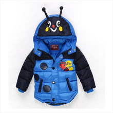 Cartoon bee boy padded jacket warm children 3-6 years old