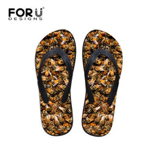 Mens Summer Casual Sandals Bee Printed Rubber Flip Flops