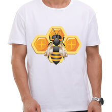 Bee Happy Men Cartoon T shirt Strong Bee