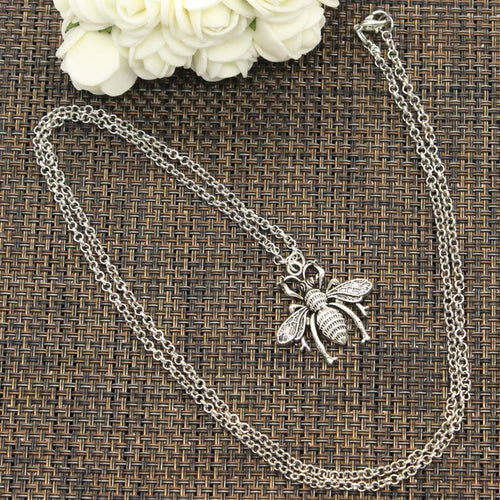 New Fashion Tibetan Silver Pendant bee Necklace